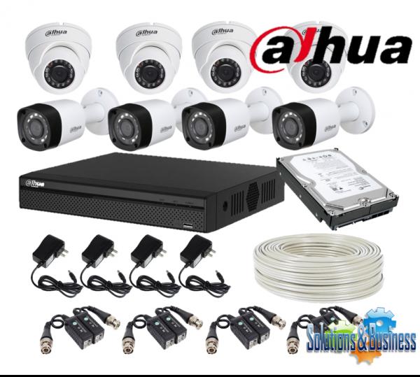 juego de cámaras de seguridad 8 camaras dahua + instalacion